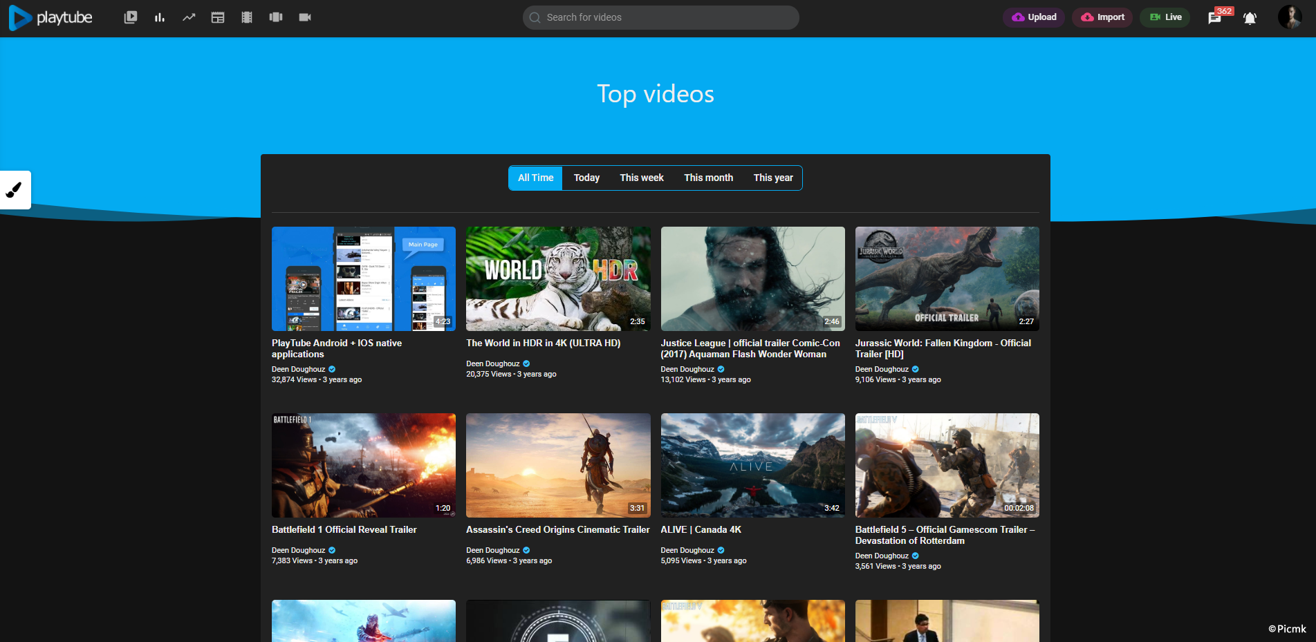 PlayTube v2.0.3 - 國外高級PHP視頻係統源碼 & PHP視頻分享平台源碼插圖3
