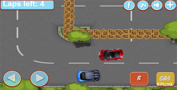 HTML5赛车类游戏源码【超级8竞赛】插图1