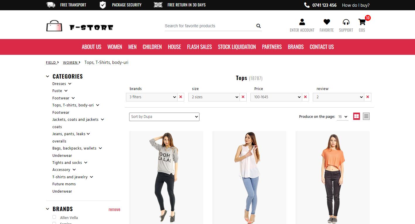 F-Store 国外商业版HTML模板插图3