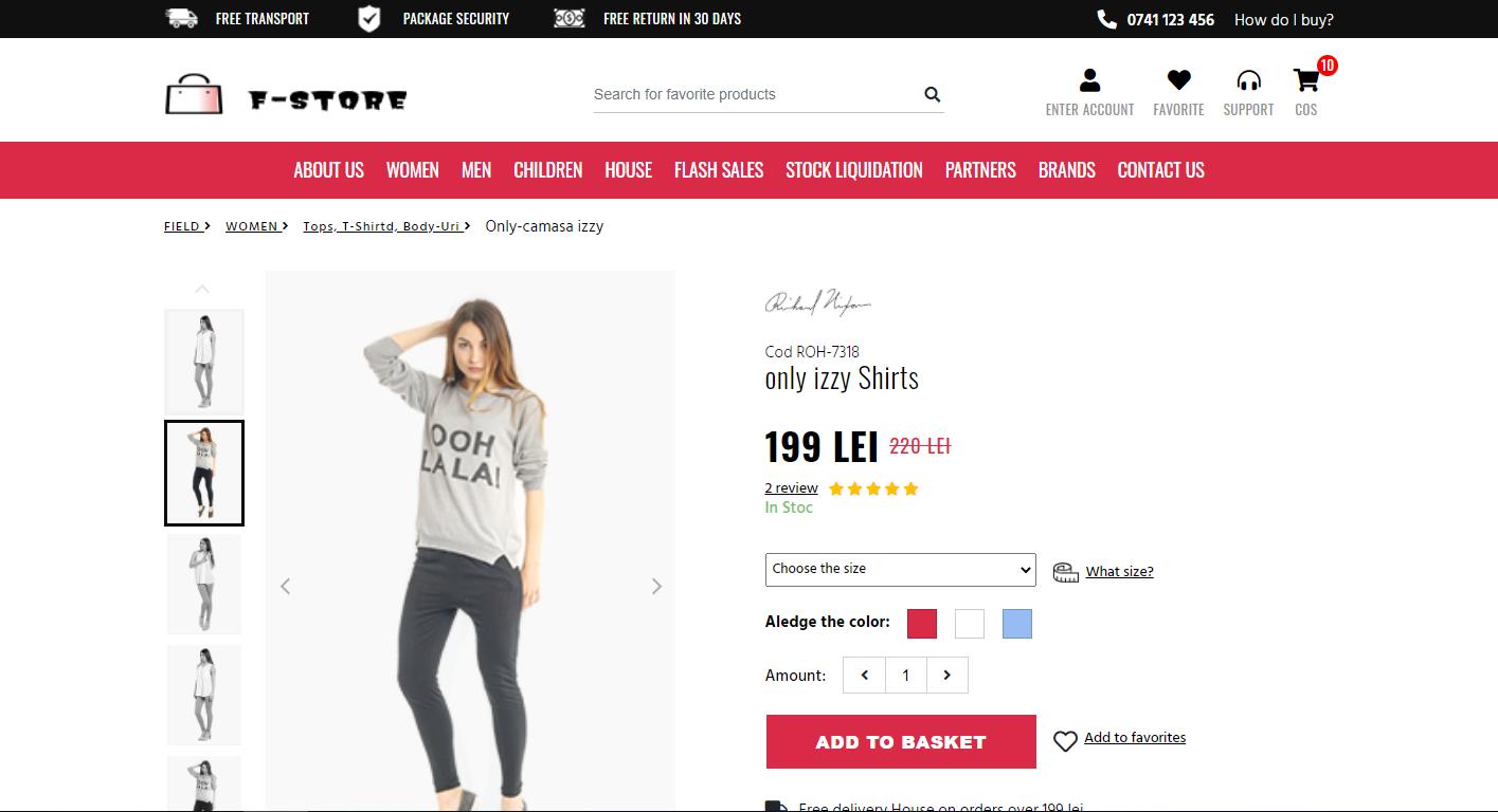F-Store 国外商业版HTML模板插图5