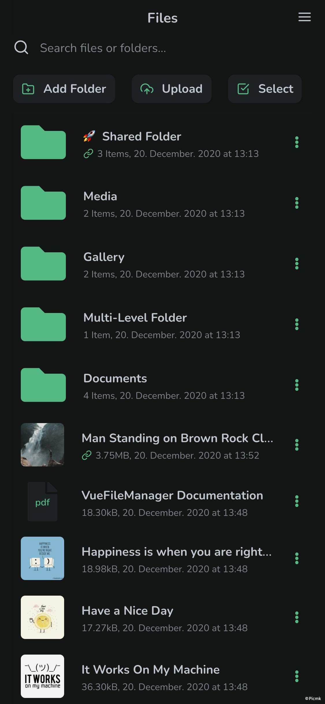 Vue文件管理器-基於Vue和Laravel的PHP商業版網絡硬盤程序_PHP雲存儲源碼_多語言帶中文簡體語言插圖5