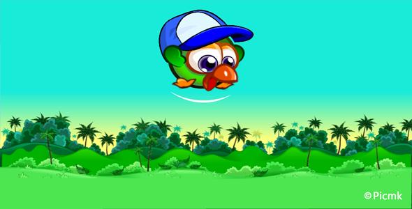HTML5冒險類遊戲【小綠雞跳跳】插圖1