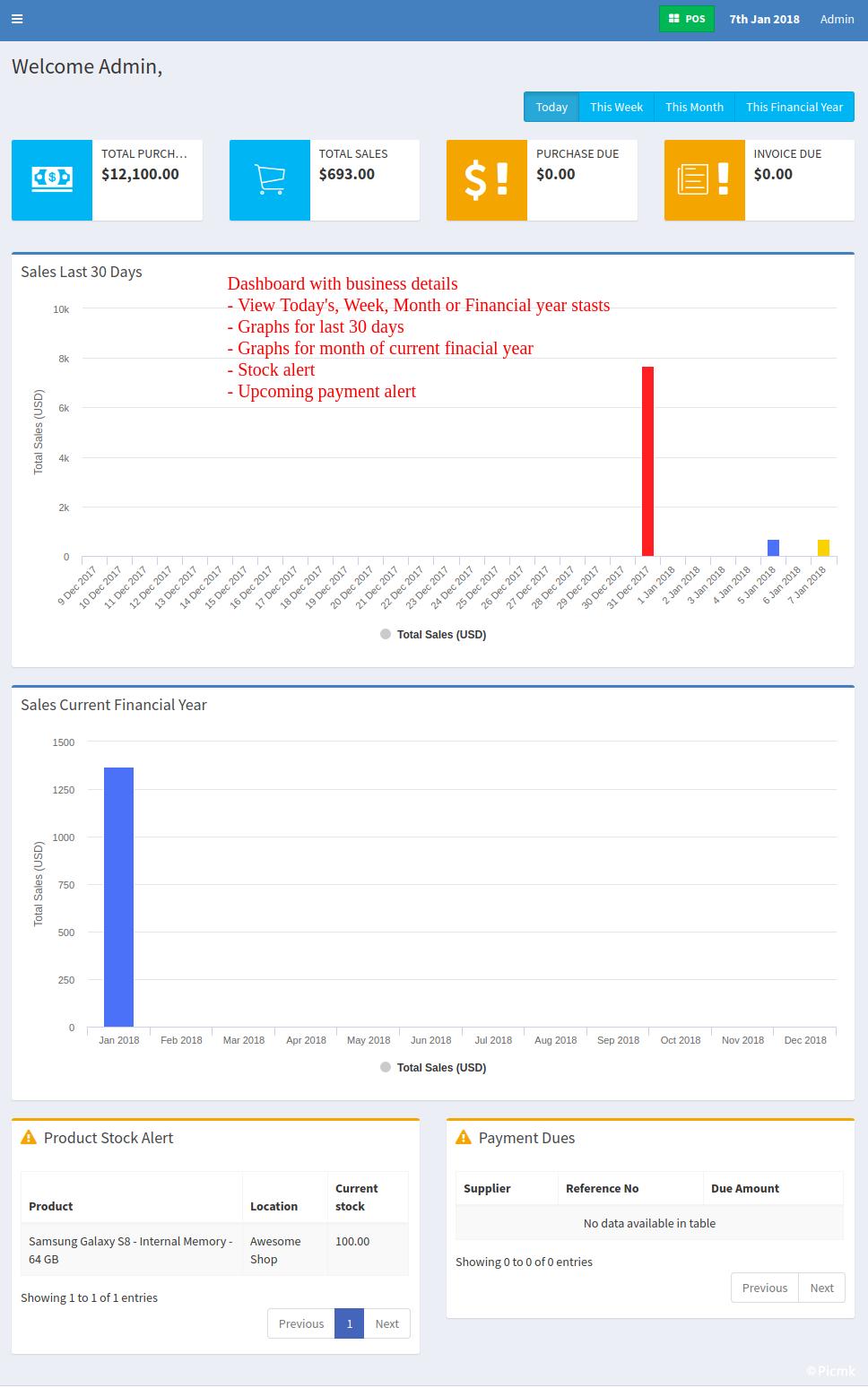 UltimatePOS V4.3 - PHP銷售終端 PHP企業資源計劃係統(ERP) 庫存管理 發票管理 零售係統 開心版插圖1