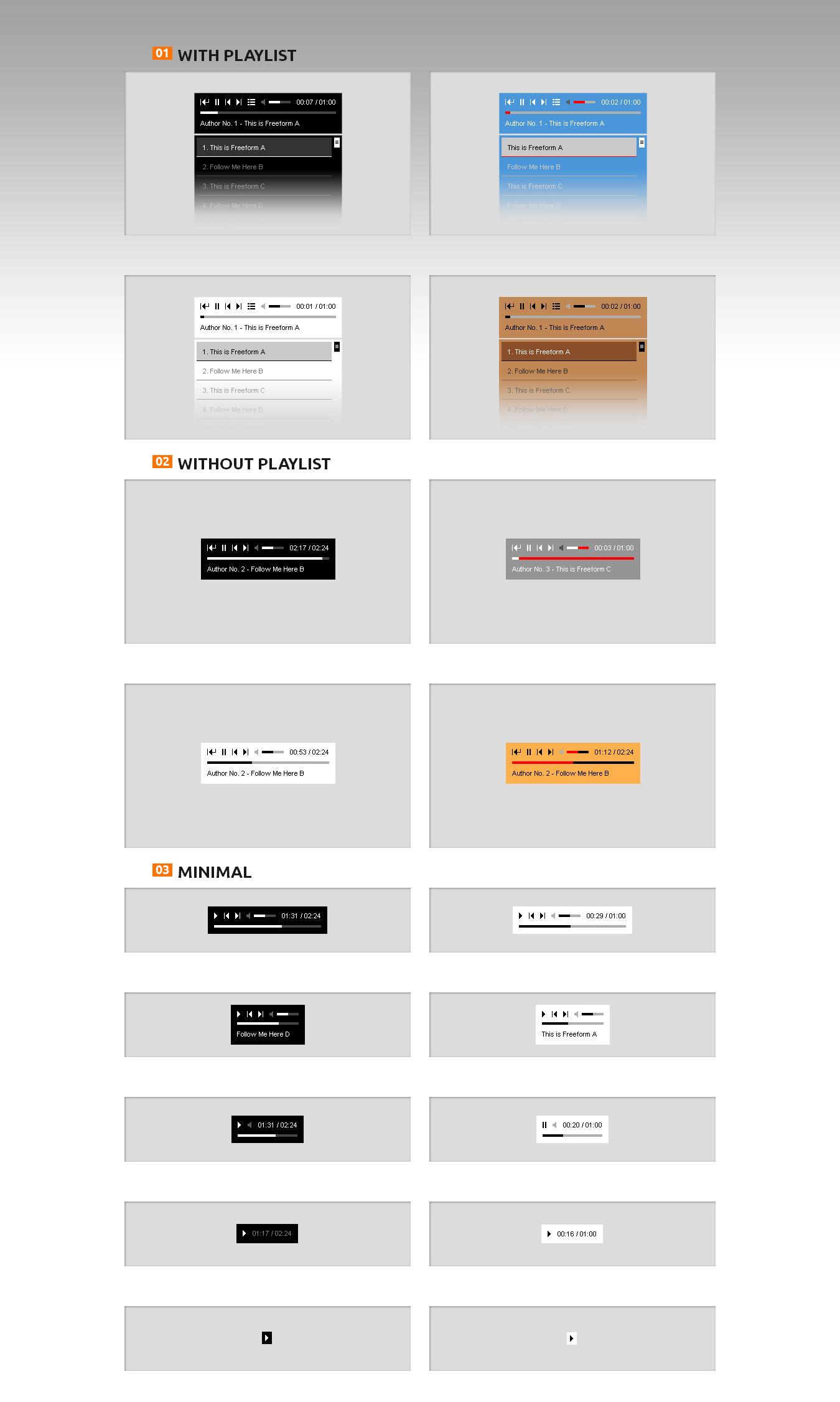 國外商業版HTML5音樂播放器帶播放列表 定製方便插圖1