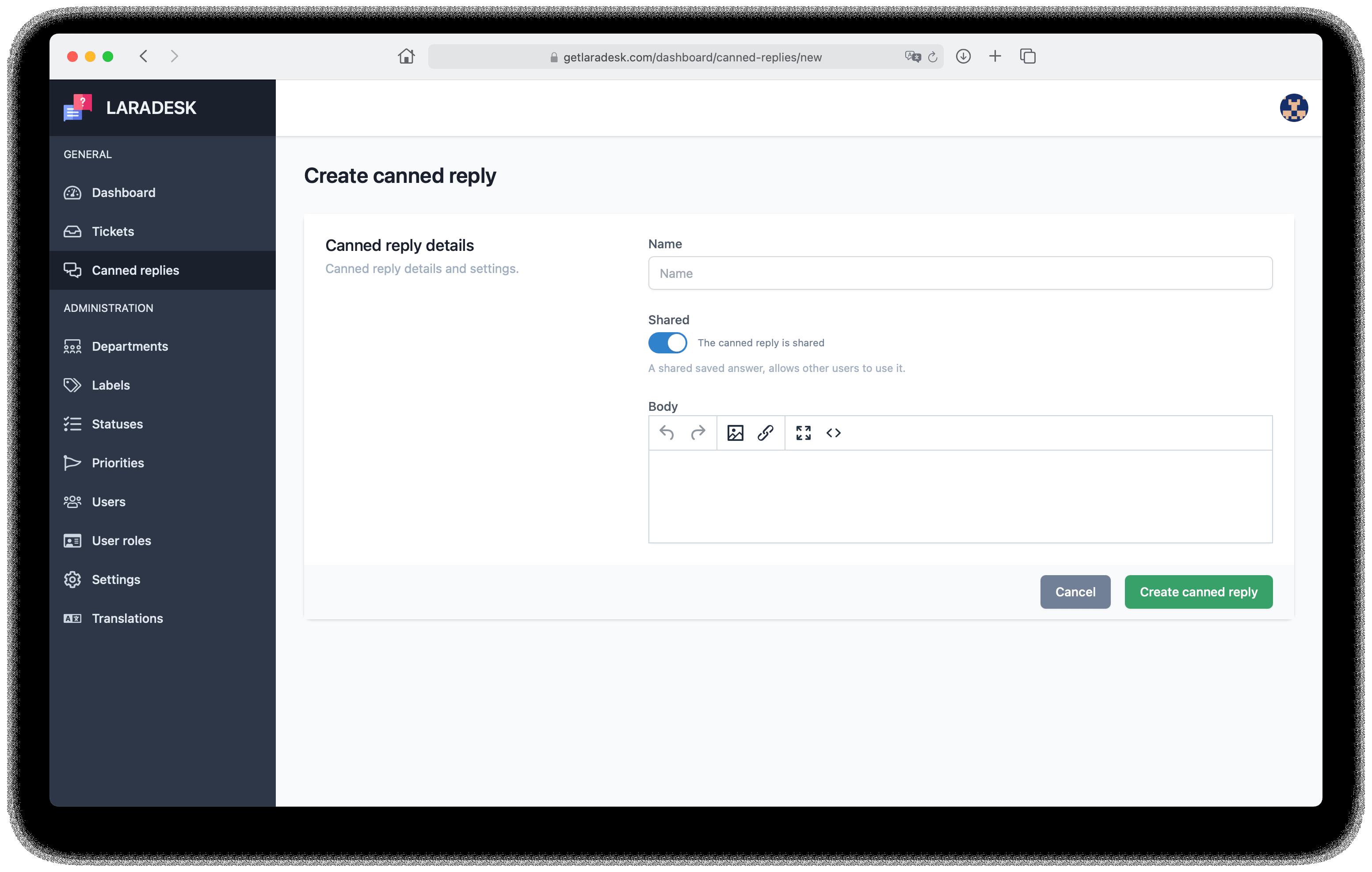 Laradesk - PHP求助台工單係統插圖3