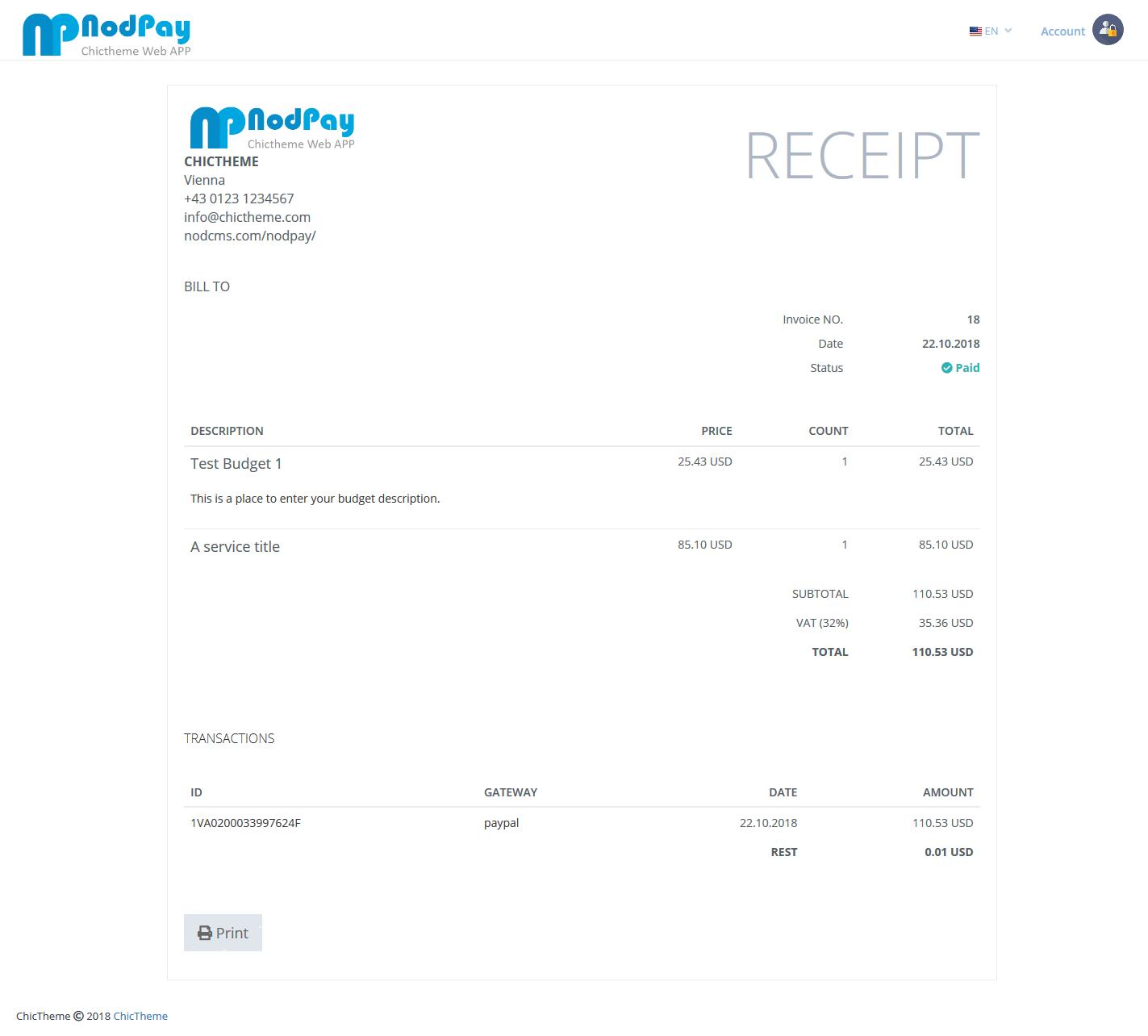 PHP在线支付多语言收款程序 PAYPAL收款程序插图5