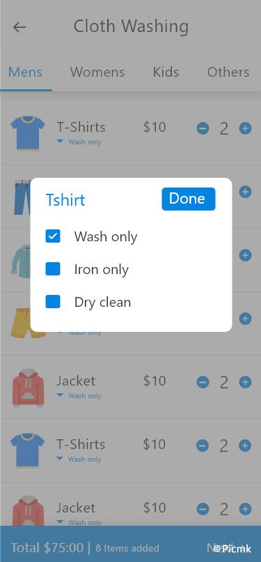 安卓線上洗衣服務APP/洗衣店管理係統/帶PHP網頁後台插圖1