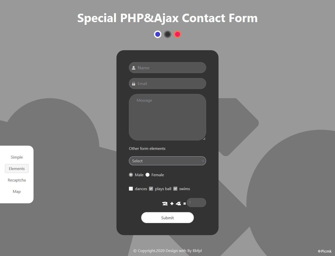 PHP Ajax特殊联系表单/多功能/多风格/带后台/无需数据库插图3