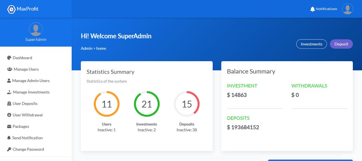 Maxprofit v5.0 - PHP在线多功能投资平台插图1