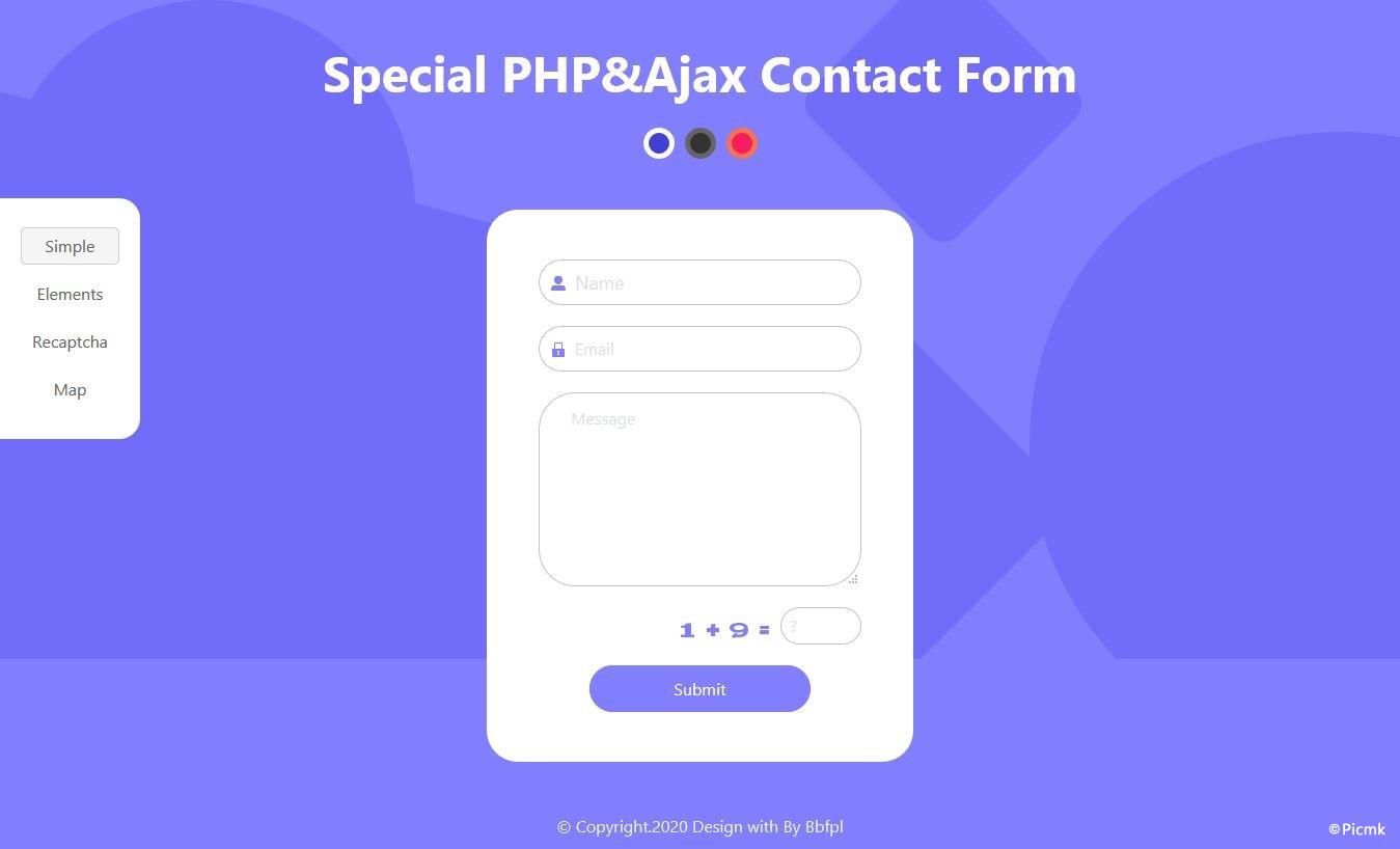 PHP Ajax特殊联系表单/多功能/多风格/带后台/无需数据库插图5
