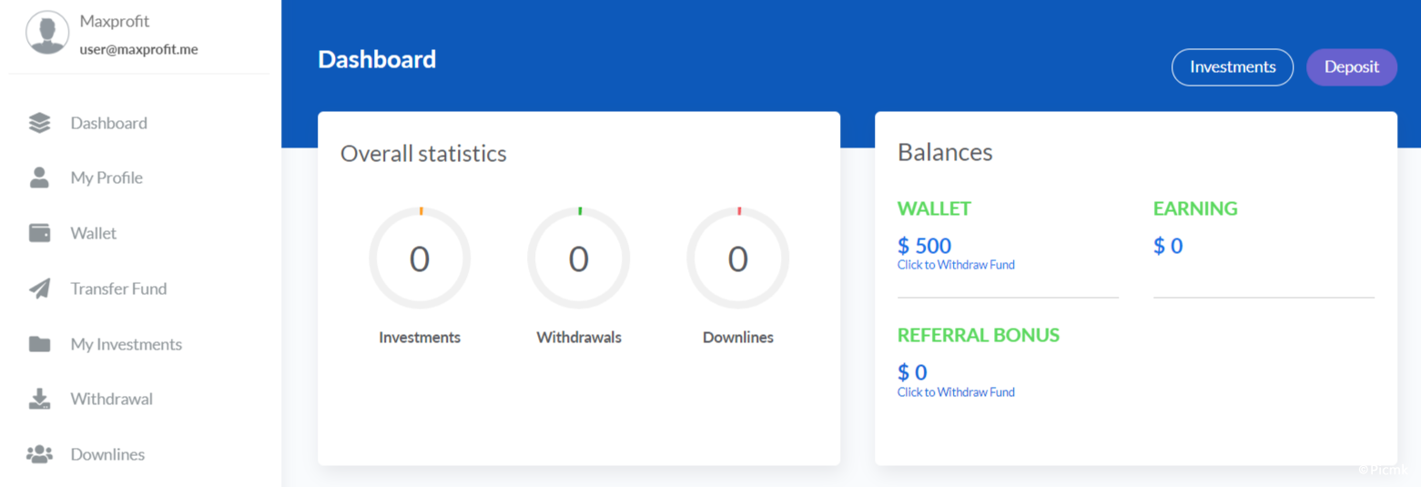 Maxprofit v5.0 - PHP在线多功能投资平台插图3