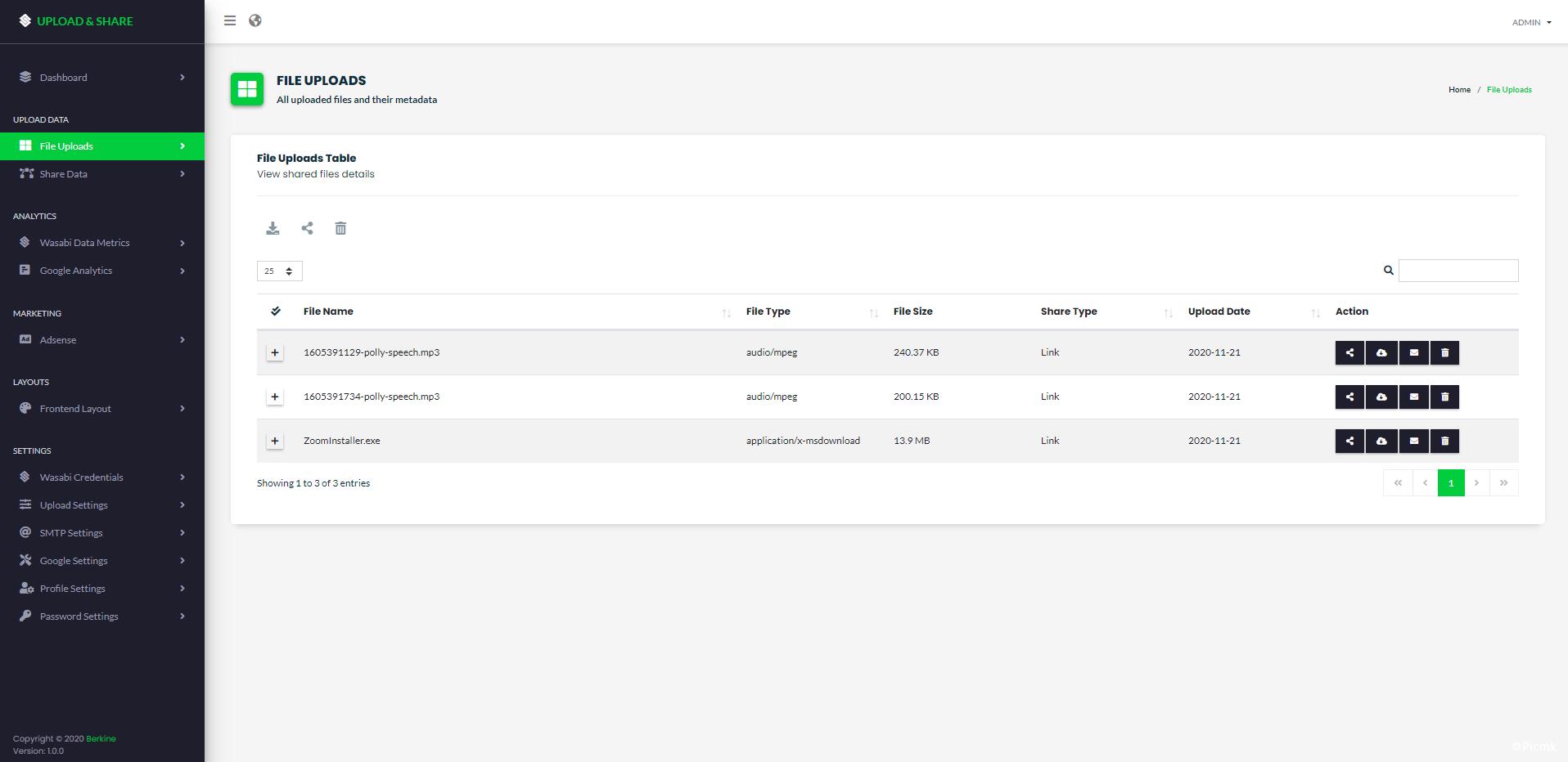 Wasabi芥末热云盘PHP文件分段直接传输源码插图5