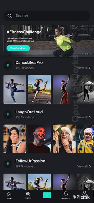 仿TikTok在线短视频APP,仿抖音APP,短视频安卓/苹果双端APP基于Flutter 2插图3