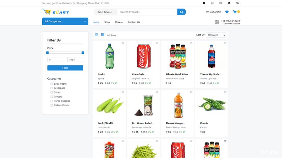 eCart Web版 v2.1.0 - 完整版PHP電子商務網站/網店源碼,適用於雜貨店,食品配送,水果店和蔬菜店等插圖3