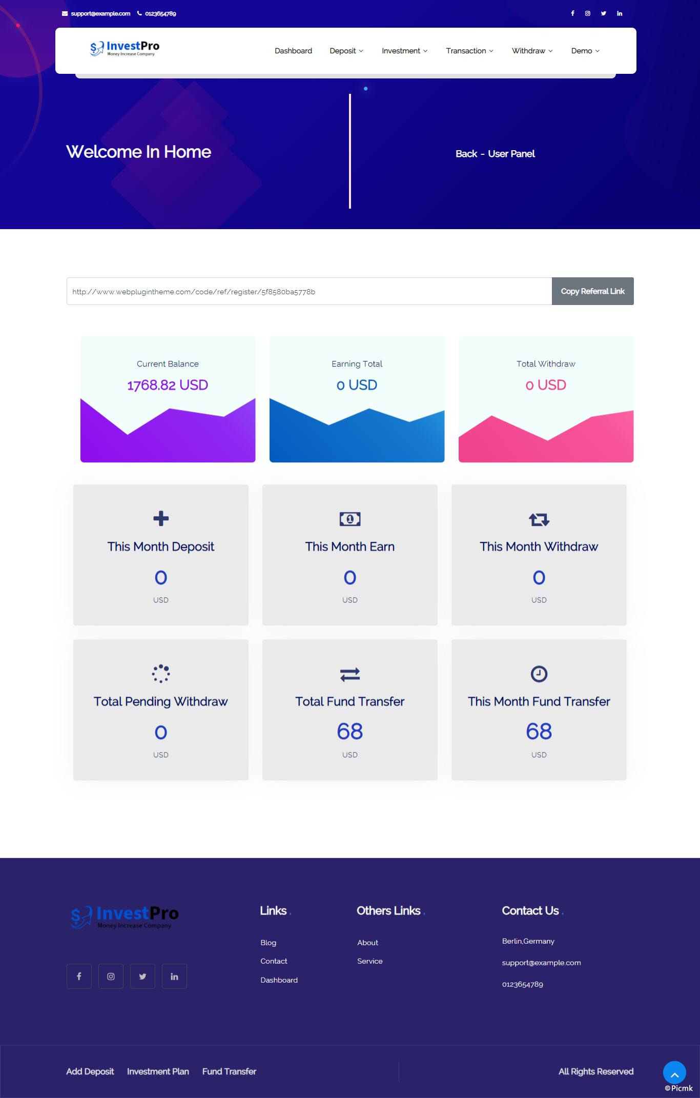 InvestPro - PHP在线钱包/银行投资平台插图5