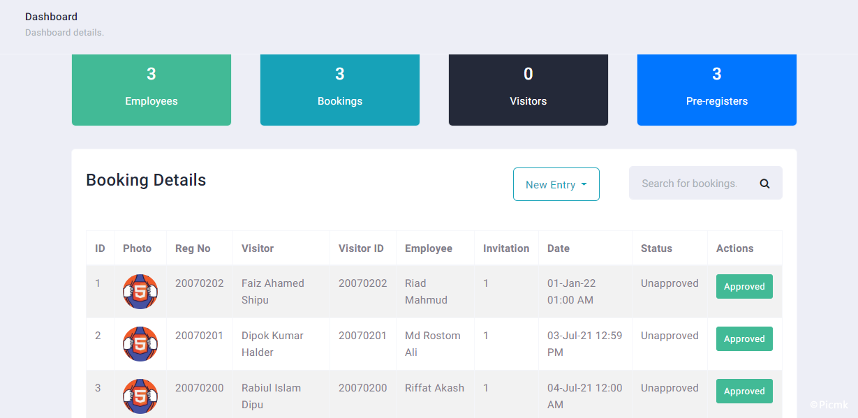 PHP訪客通行證管理係統/PHP門禁係統源碼插圖1