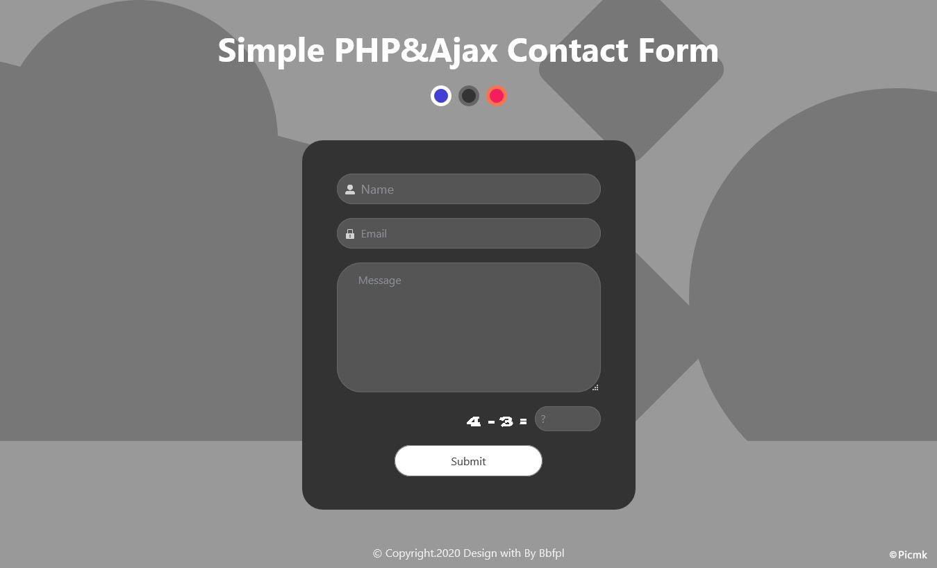 PHP-Ajax简洁联系表单/支持SMTP插图9