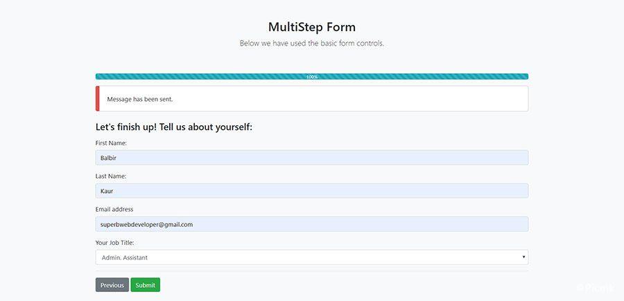 StepForm-多步驟PHP表單源碼插圖7