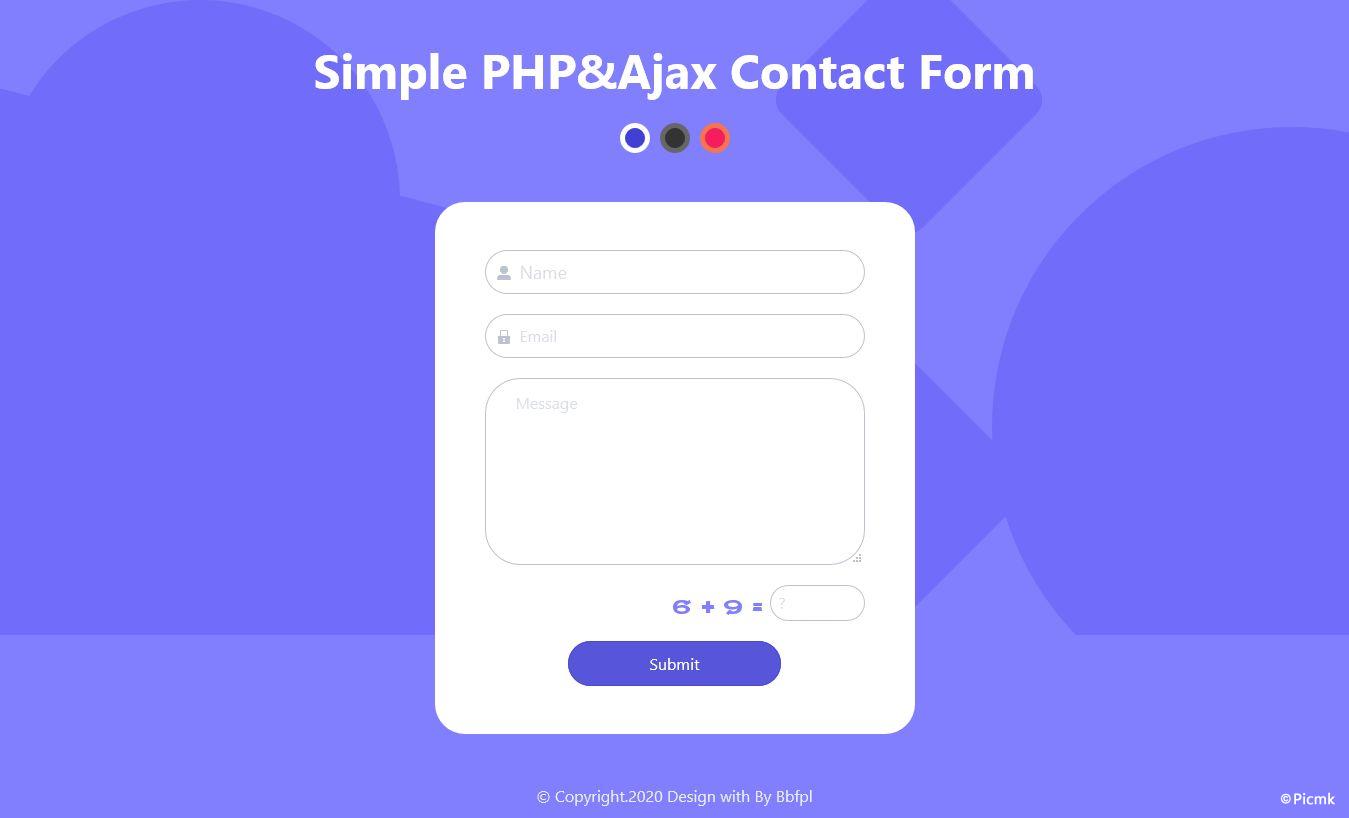 PHP-Ajax简洁联系表单/支持SMTP插图1