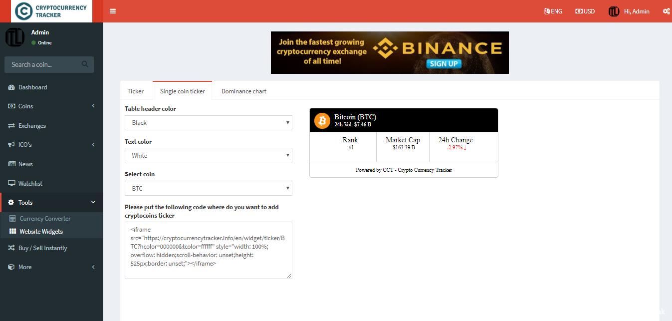 PHP加密貨幣信息係統/展示實時價格/圖表/新聞等/多語言插圖5