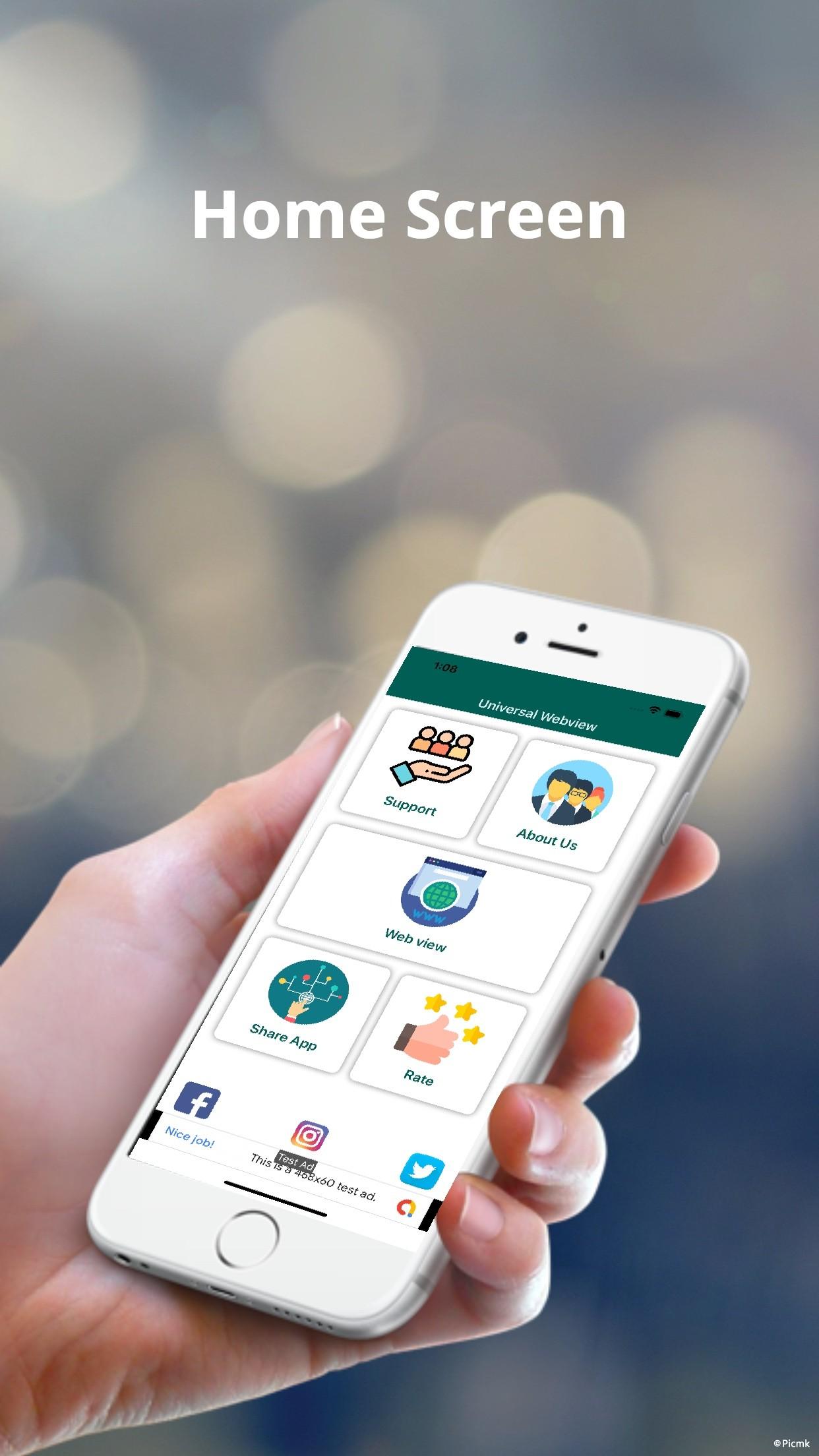 iOS Web View App模板/通用Webview插圖1