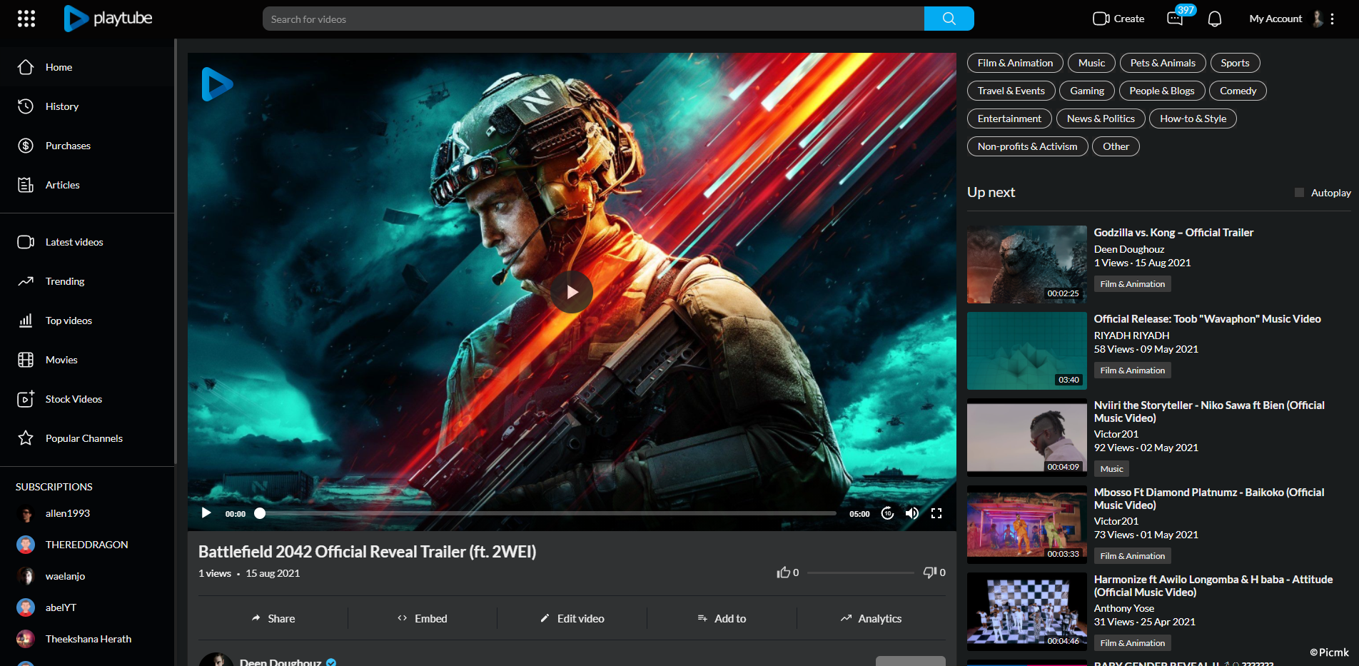 最新PlayTube2.1-PHP視頻CMS/視頻分享平台/社區插圖3