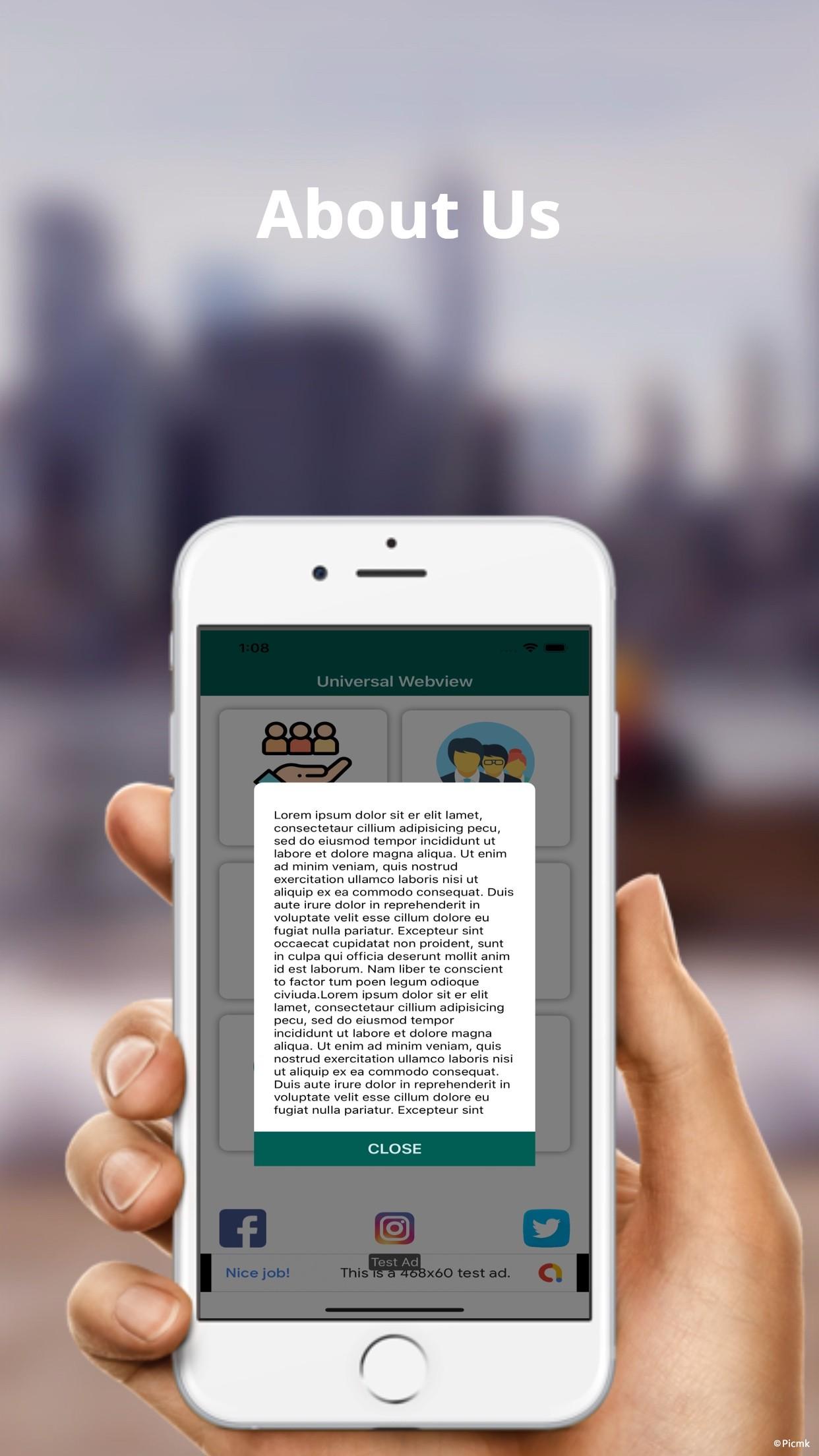 iOS Web View App模板/通用Webview插圖3