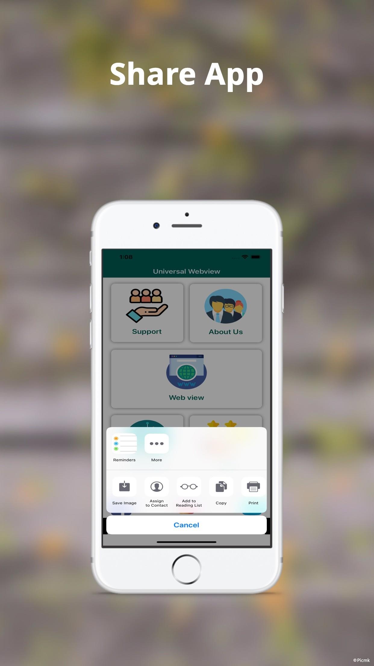 iOS Web View App模板/通用Webview插圖7