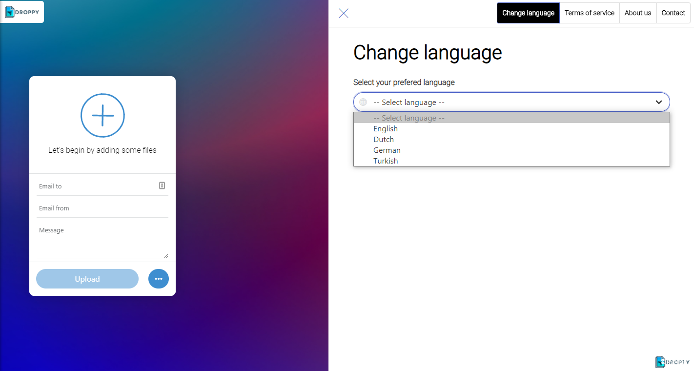 PHP線上文件傳輸發送和分享源碼/PHP網盤源碼開心版/多語言插圖3